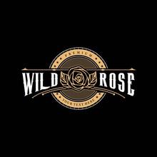 Abstrack Rose Logo Vintage Des...