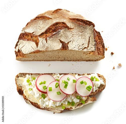 Obraz na plátně slice of bread top view