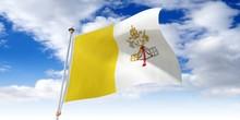 Vatican City - Waving Flag - 3D Illustration