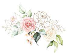 Watercolor Floral Bouquet - Il...