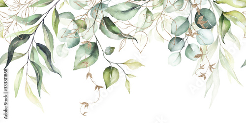 watercolor-seamless-border-illustration-with-green-leaves-branches-and-gold-elements-for-wedding-stationary-greetings-wallpapers-fashion-backgrounds-textures-diy-wrappers-cards