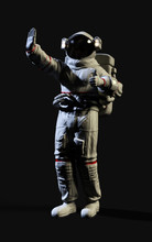 3d Illustration Astronaut Pose...