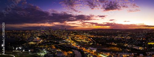 Brisbane City at Sunset