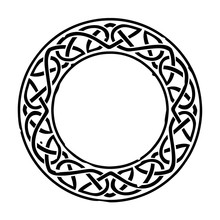 Black Celtic Ring With A Repea...