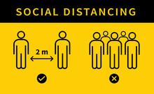 Social Distancing Icon. Keep T...