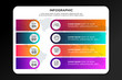 Colorful template infographic business