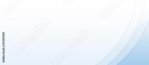 Slika na platnu 曲線型の透ける紙を重ねた、水色系の背景イラスト