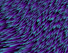Abstract Deformed Cold-colored Line Flow - 3D Rendering