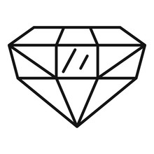 Precious Jewel Icon. Outline P...