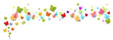 Schmetterlinge Fliegen Band Banner Schmetterling Bunt Regenbogen