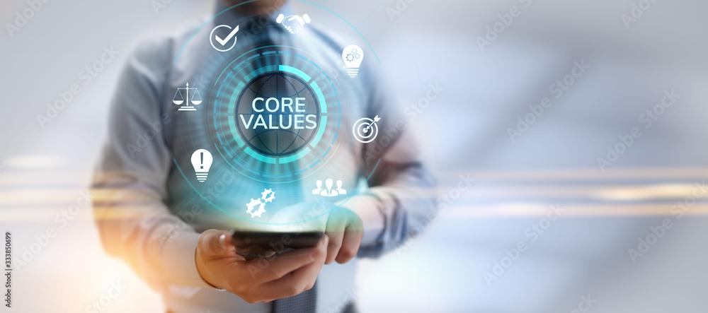 Fototapeta Core values responsibility Company Ethical Business concept.