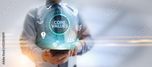 Fototapeta Core values responsibility Company Ethical Business concept. obraz
