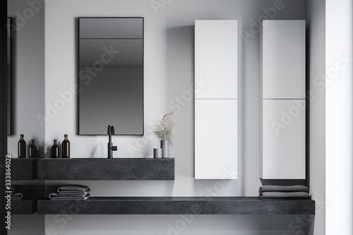 Cuadros en Lienzo Sink and cabinets in white bathroom