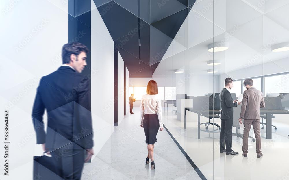 Fototapeta Business people in corporate office