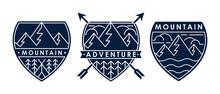 Set Of Mountain Logo Vector Il...