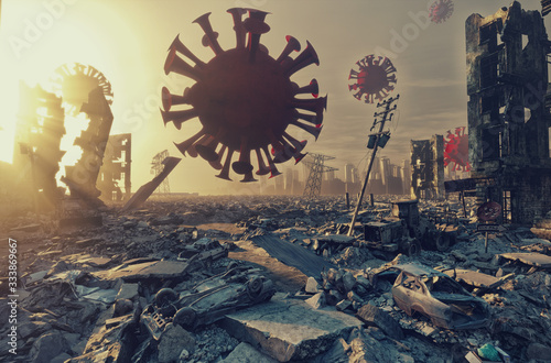 Virus attack concept. Fototapeta