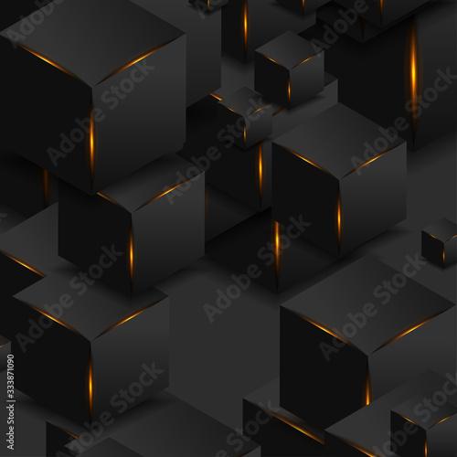 abstrakcjonistyczni-czarni-3d-szesciany-z-po