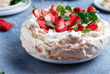 Cake Pavlova With Meringue, St...