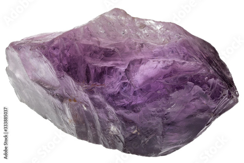 amethyst from India isolated on white background Canvas Print