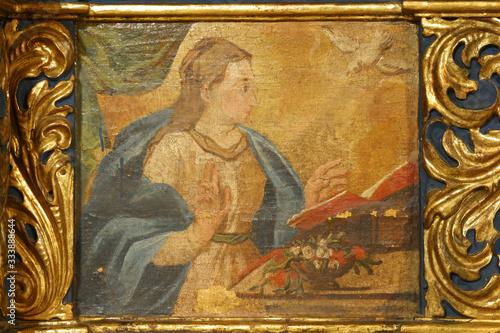 Fototapeta Annunciation of the Virgin Mary, high altar in the Parish church of St