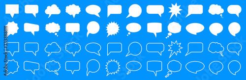 Papel de parede Set different empty speech discussion bubble, chat sign - for stock