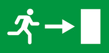 Running Man And Exit Door Sign...