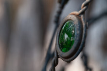 Green Jewel Amulet With Reflection