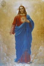 Sacred Heart Of Jesus, Altarpiece In The Holy Trinity Parish Church In Klenovnik, Croatia
