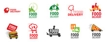 Vector Logo Of Food Delivery, ...