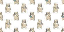 Bear Seamless Pattern Polar Be...