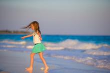Adorable Little Girl At Beach ...