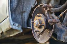 Wheel Hub On Disassembled Car