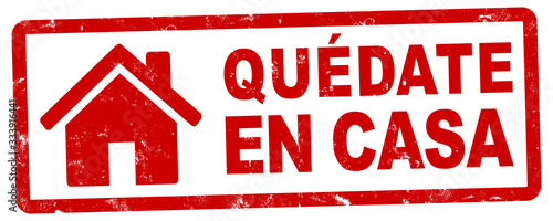 nlsb1439 NewLongStampBanner nlsb - banner de la casa - etiqueta española - firme Canvas Print
