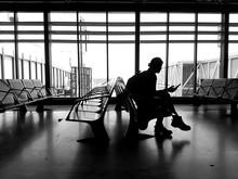 Attente Dans Un Aéroport