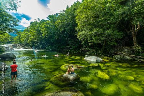 Fototapeta Mossman Gorge, AUSTRALIA - 15 APRIL 2017: Mossman Gorge - river in Daintree Nati