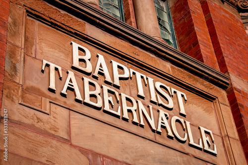 Baptist tabernacle church sign Wallpaper Mural