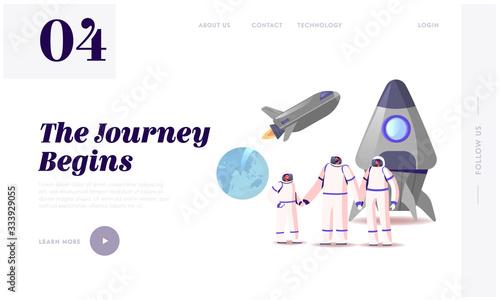 Mars or Alien Planet Colonization Landing Page Template Tapéta, Fotótapéta