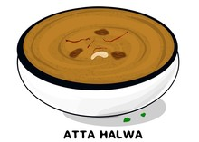 Aate Ka Halwa Indian Sweet Foo...