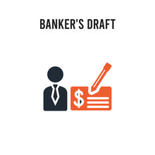 Banker's Draft Vector Icon On ...
