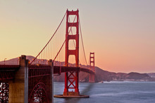 Golden Gate Bridge On Sunset, ...