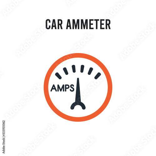 Photo car ammeter vector icon on white background