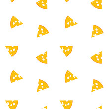 Cheese Pattern. Illustration O...
