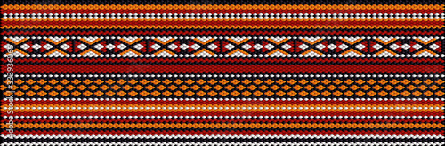 Photo Seamless ethnic ornament for fabrics, interiors, ceramics and furniture in the style of Latin America