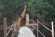 Beautiful Acrobat Woman Posing...