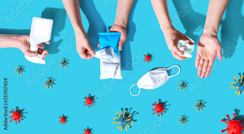 Prevent virus and germs - healthcare and hygiene concept Fototapete