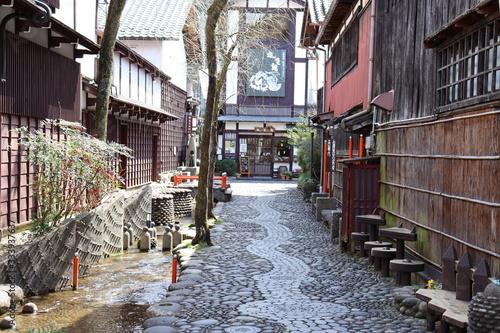 日本の古い町並み Canvas Print