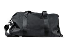 Black Travel Bag Isolated On White Background. Travel Concept.