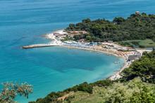The Beach Of Portonovo In Adri...