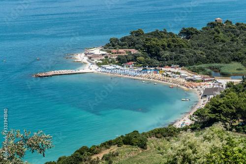 The beach of Portonovo in Adriatic Sea Canvas Print