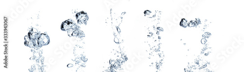 Fotografia Real Images of  big air water bubbles or soda floating up to water surface